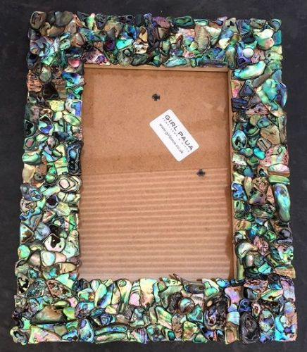 "Rectangle Paua Mosaic Frame 7""x5"""